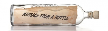 Blog Message from a bottle